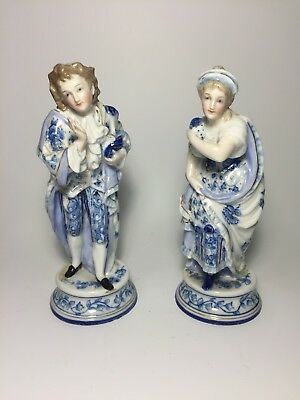 Pair of Antique French Continental Porcelain Figures