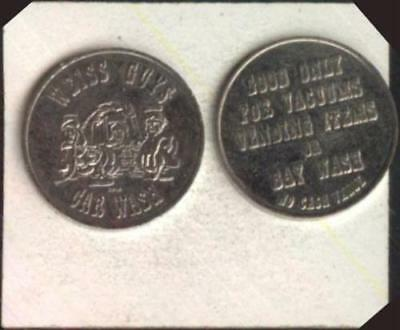 50 Weiss Guys Car Wash Tokens   nickel  1.125 inch tokens