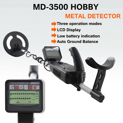 MD-3500 Metal Detector WaterProof Coil Gold Digger Deep Sensitive Targets Hunter