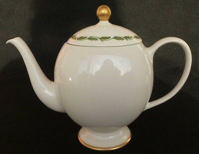 Vintage Franciscan China Arcadia Green Made In California Teapot USA