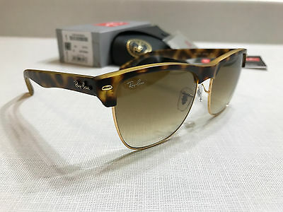 Ray Ban RB 4175 878/51 CLUBMASTER OVERSIZED Tortoise / Light Brown Gradient 57m