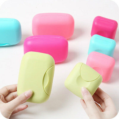 Travel Shower Soap Box Holder Plate Home Container Dish Hiking Case Bathroom New