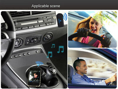 AU Wireless Bluetooth 3.5mm AUX Audio Stereo Music Home Car Receiver Adapter