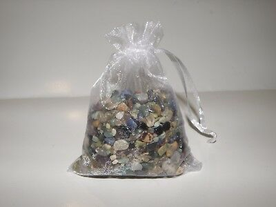 Assorted Mix of Beautiful Natural Crystal chips 200 gram Bag  FREE POSTAGE