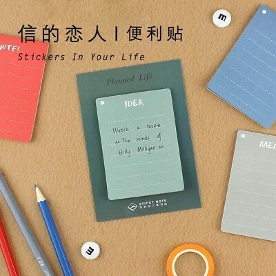"Haftnotizen | Page Marker | Sticky Notes - To Do List Check List, ""Planned Life"""