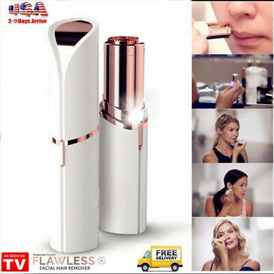 Finishing Touch Flawless Women Painless Hair Remover Face Facial Hair Clean Skin