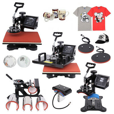 "15 ""x 12"" 8 in 1 Heat Press Hitzepresse Machine Transfer t-shirt mug Mütze Plate"