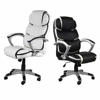 PU Leather Ergonomic High Back Executive Computer Desk Task Office Chair Black H