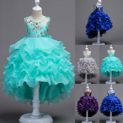 Flower Girl Princess Dress Kids Party Wedding Bridesmaid Pageant Dresses Clothes