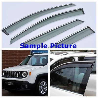 Jeep Renegade 2015-2017 SIDE DOOR WIND DEFLECTOR WINDOW TINTED SNOKE VISOR UK