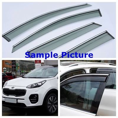 KIA Sportage 2016 2017 SIDE DOOR WIND DEFLECTOR WINDOW TINTED SMOKE VISOR UK