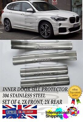 Bmw X1 F48 2016-2018 S.steel Inner Door Sill Scuff Plate Trims Protector 4Pcs