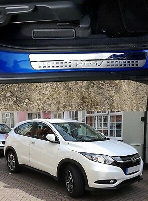 Honda HRV 2016-2018 SET STAINLESS DOOR SILL SCUFF PLATE GUARD PROTECTOR TRIMS