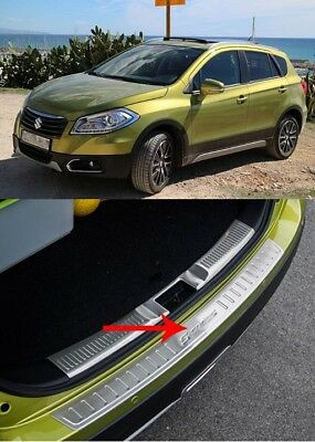 Suzuki Scross S-Cross 2014-2018 Rear Bumper Protector Guard Cover Sill Plate Uk