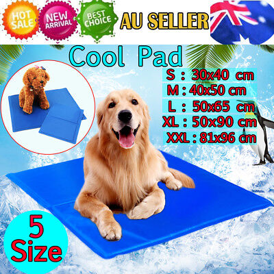 5 Sizes Dog Cat Cool Bed Gel Mat Non-Toxic Cooling Summer Bed Pad Large XXL