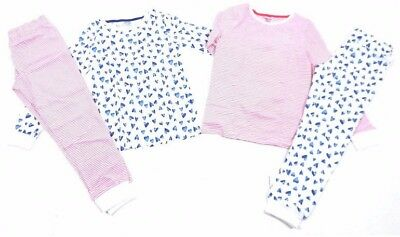 Girls Ex Store 2 Pack Pyjama Set Nightwear Sleepwear - 2 Sets Of Pjs