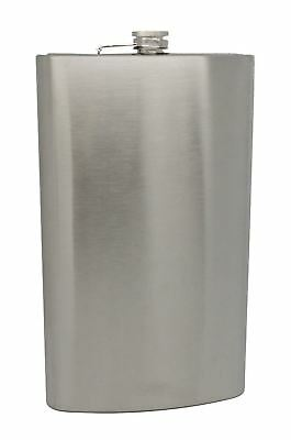 Stainless Steel Giant 64oz Large Novelty Hip Flask 1/2 Gallon Volume