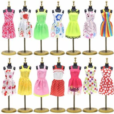 "10 Pcs Lot Fashion Handmade Dresses Clothes For 11"" Barbie Dolls Style Random"