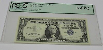 FR. 1620* 1957A One Dollar Star Note 1 Silver Certificate PCGS Graded 65 GEM New
