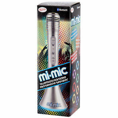 Mi-Mic Microphone Speaker with Bluetooth by Toyrific - Silver
