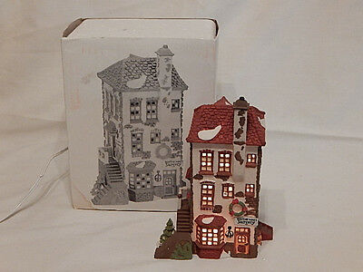 Dept 56 Dickens Village C H Watt Physician Lighted Home & Surgery Retired - MIB