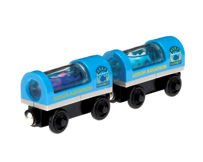 Thomas & Friends Wooden Railway Aquarium Car Carrying Hammerhead Shark and Squid