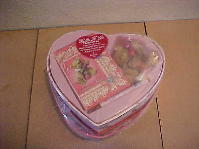 Cherished Teddies Gifts to Go I Just Called Bear  New in Heart Shaped Box Phone