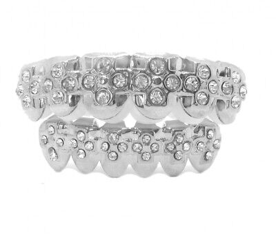 Grillzz Top & Bottom Cross of Ice Hiphop Bling Grillzz Set