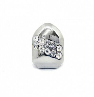 Single Grillzz Backslash of Ice hiphop bling CHROME / SILVER Tooth Clip