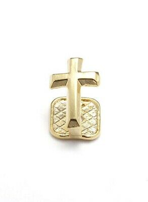 Single Bling Grillz Cross on Tooth hiphop bling Gold plated Tooth Clip
