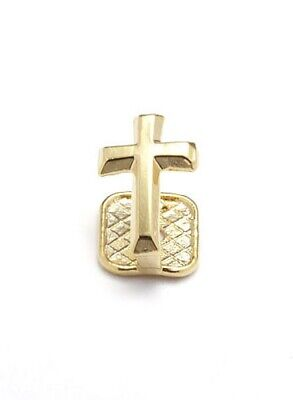 Single Grillzz Cross on Tooth hiphop bling Gold plated Tooth Clip