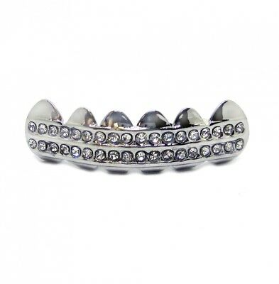 Bling Grillz Double Deck of Ice Bottom Row Hiphop Bling Bling Grillz