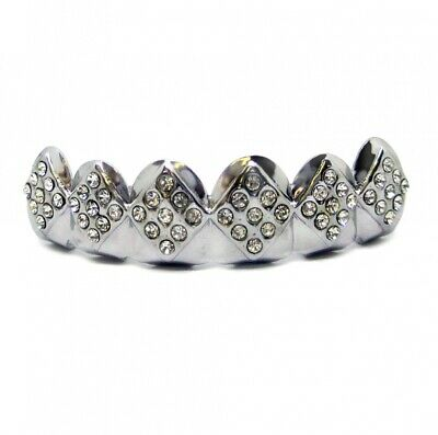 Grillzz Faux Diamond Embossed Top Row Hiphop Bling Grillzz