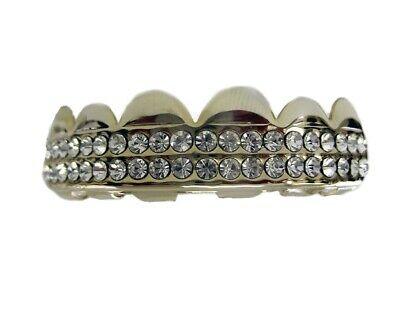 Bling Grillz Double Deck of Ice Top Row Hiphop Bling Bling Grillz