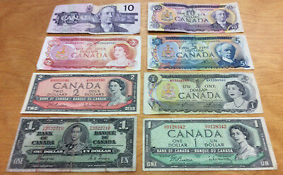 $32 Face In Bank Of Canada Notes ~ Neat Collection 8-Different Notes  <<Look >>