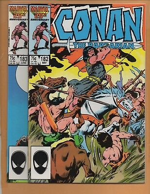 Conan The Barbarian # 182 & 183 VF/NM to NM