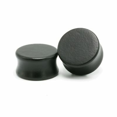 Pair of Natural Black Wood Stretch Ear Plugs Earrings Tunnel Expander Gauges