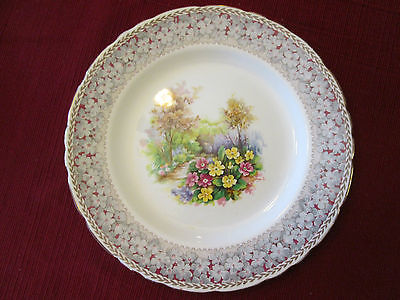 """Woodland Dell 8 1/4"""" Salad Plate by HM Sutherland Bone China Made in England"""