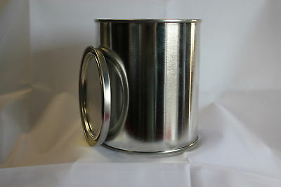 Empty Pint Metal Paint Can With Lid