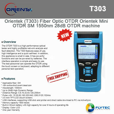 Orientek T303 Fiber Optic OTDR Orientek Mini OTDR SM 1550nm 28dB OTDR