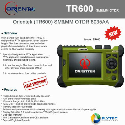 Orientek TR600 8035AA Single Multimode OTDR 850/1300nm-1310/1550nm 21/19/30/28dB