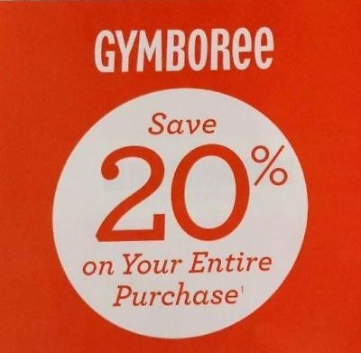 TWO (2) Gymboree 20% Coupon Code Off Entire Purchase 12/30/17
