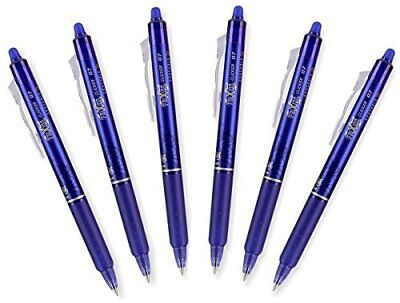 Pilot FriXion Ball 0.7mm Erasable Gel Pens, Fine Point, Blue Ink, Pack Of 6