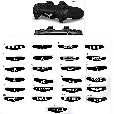 LED Light Bar Cover Decal Skin Sticker For PS4 PS4 Pro PS4 Slim Controller