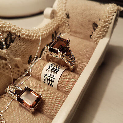 Beautiful Brazilian smoky quartz ring and pendant set in Sterling Silver