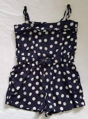 Witchery girls navy jumpsuit playsuit size 4