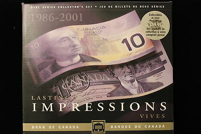 """1989/2001 Canada. ($10) Ten Dollars x 2. """"First Impressions"""" Two Banknote Set."""