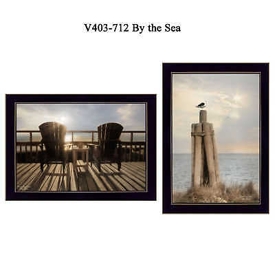 """""""By The Sea"""" Collection By Lori Deiter, Printed Wall Art, Ready To Hang Framed"""