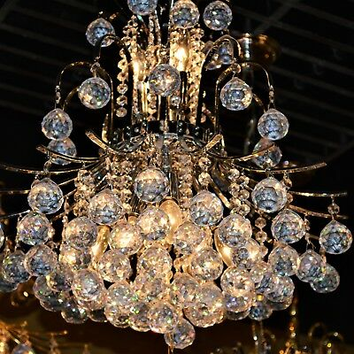 "US BRAND French Empire 9 Light Chrome Finish Clear Crystal Chandelier 19"" x 23"""