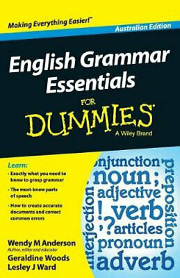 NEW English Grammar Essentials for Dummies By Wendy M. Anderson Paperback